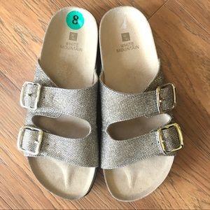 White Mountain Gold Sandals